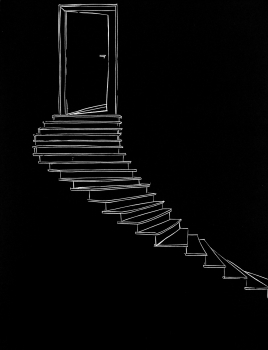 """…then a steep staircase…"" Emma Zunz Series"