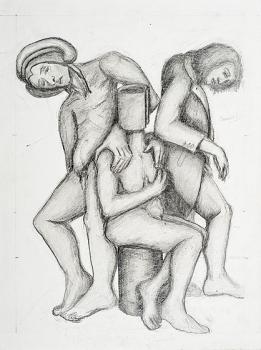 Beatriz, Dante y Virgilio
